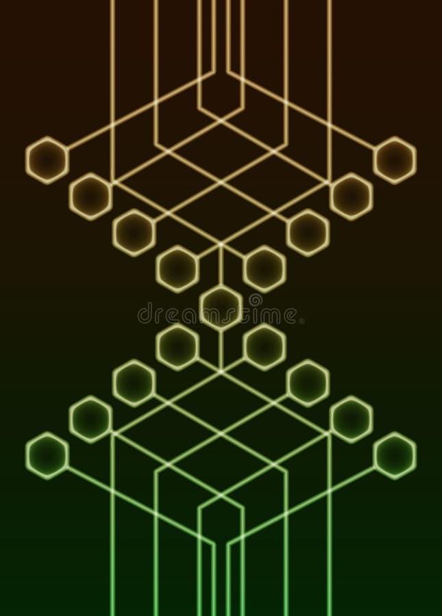 tła abstrakcjonistyczny circuitry ilustracja wektor