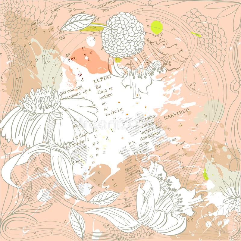 tła abstrakcjonistyczny grunge royalty ilustracja