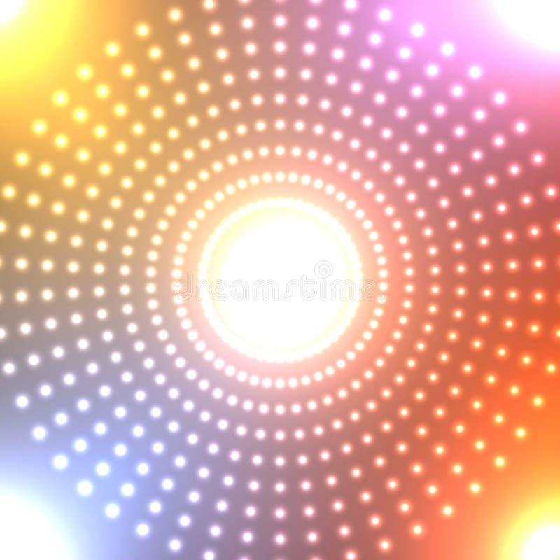 tła abstrakcjonistyczny neon ilustracja wektor