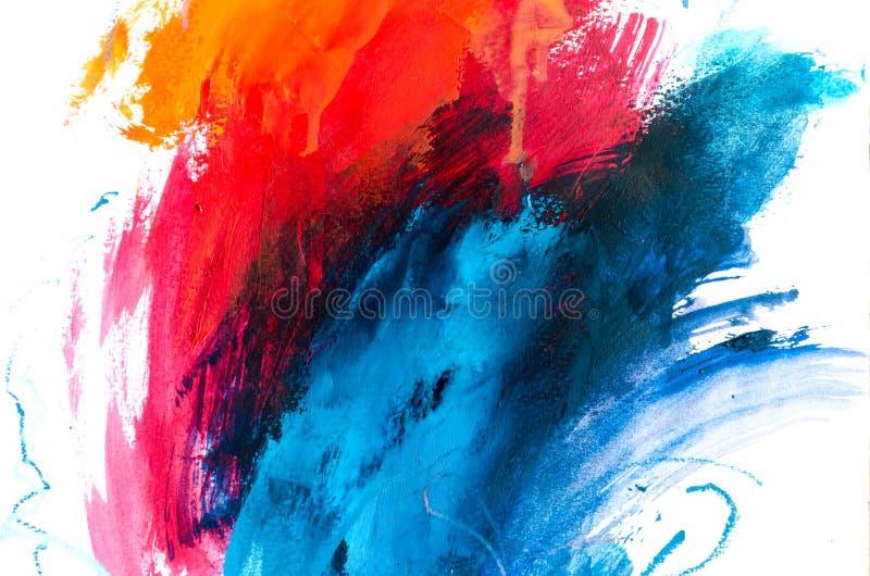 tła abstrakcjonistyczny obraz olejny Olej na brezentowej teksturze Ręka rysująca zdjęcia royalty free