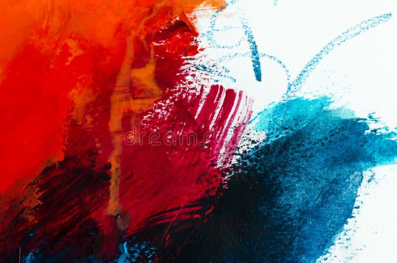 tła abstrakcjonistyczny obraz olejny Olej na brezentowej teksturze Ręka rysująca zdjęcia stock