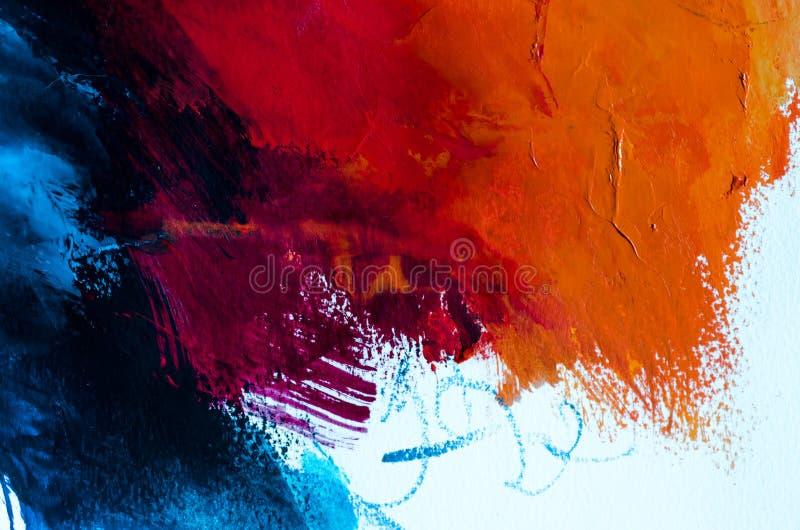 tła abstrakcjonistyczny obraz olejny Olej na brezentowej teksturze Ręka rysująca obrazy royalty free