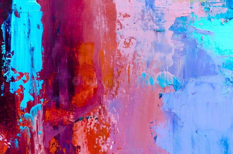 tła abstrakcjonistyczny obraz olejny Olej na brezentowej teksturze Ręka rysująca zdjęcie stock
