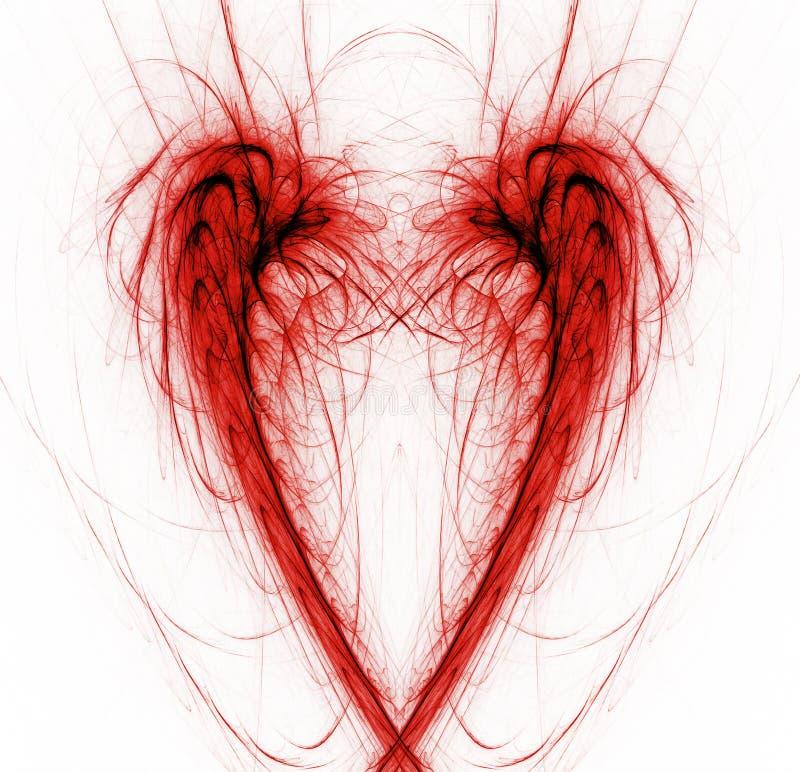 tła abstrakcjonistyczny serce ilustracji
