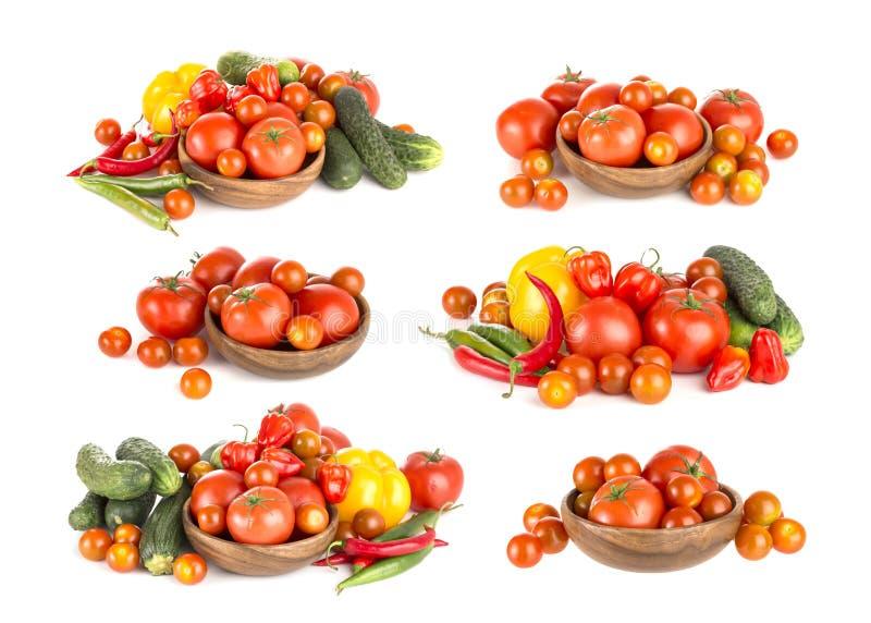 tła antepedium grupy odosobniony pomidorów widok biel obraz royalty free
