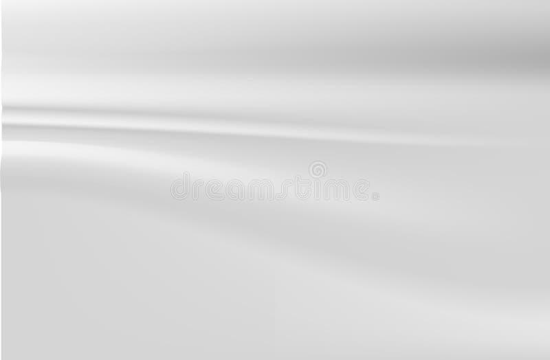 tła atłasu srebra biel ilustracja wektor
