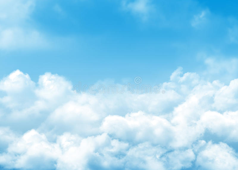 tła błękit chmurnieje niebo zdjęcie royalty free