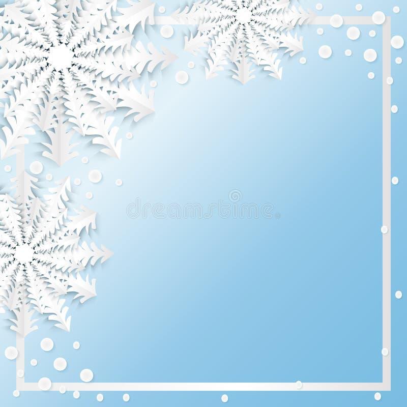 tła błękit kopia zawierać płatków śniegów przestrzeń fotografia stock