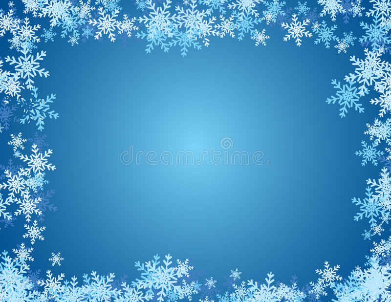 tła błękit płatek śniegu royalty ilustracja