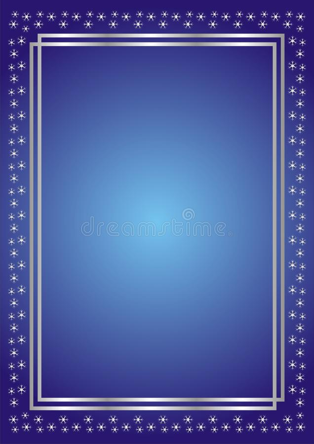 tła błękit srebra płatek śniegu ilustracja wektor