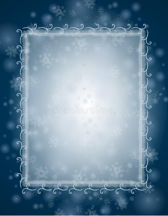 tła błękit zima ilustracja wektor