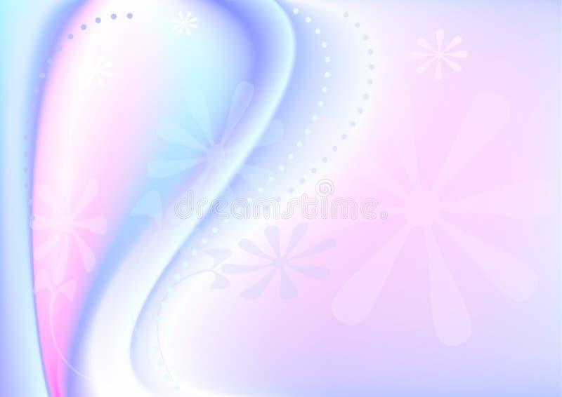 tła błękitnawych flowe menchii przejrzysty falisty ilustracja wektor