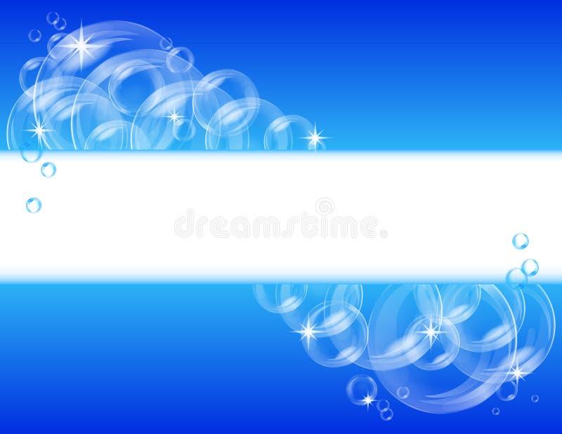 tła błękitny bąbla wektor ilustracji