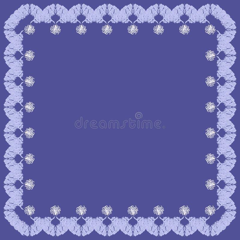 tła błękitny dekoracyjna elementów rama royalty ilustracja