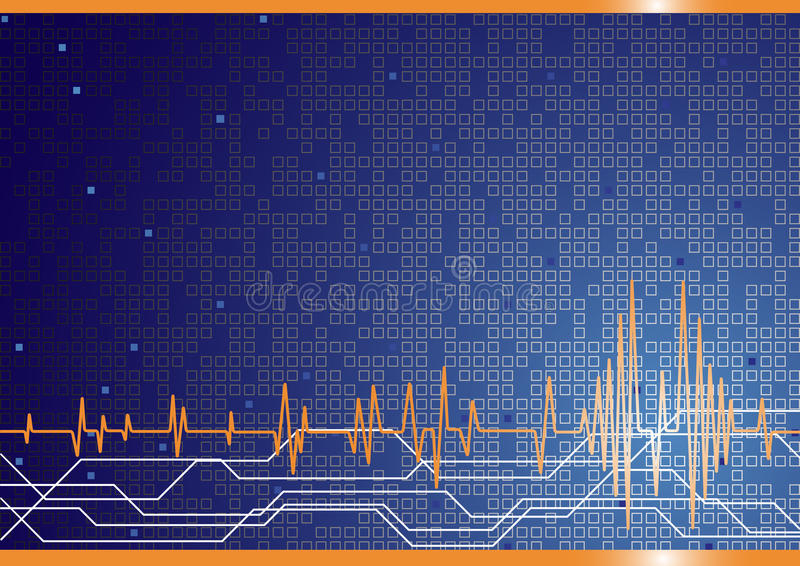 tła błękitny koloru zaawansowany technicznie wektor ilustracji