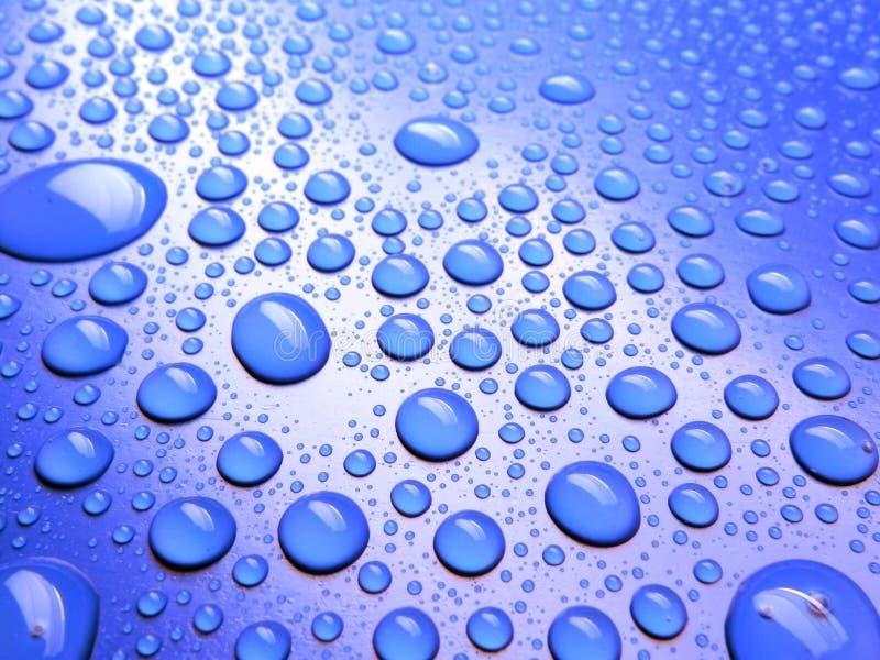 tła błękitny kropel udziału deszcz zdjęcia royalty free