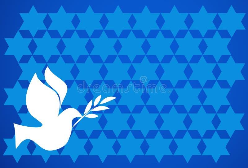 tła błękitny pokoju gołąb royalty ilustracja