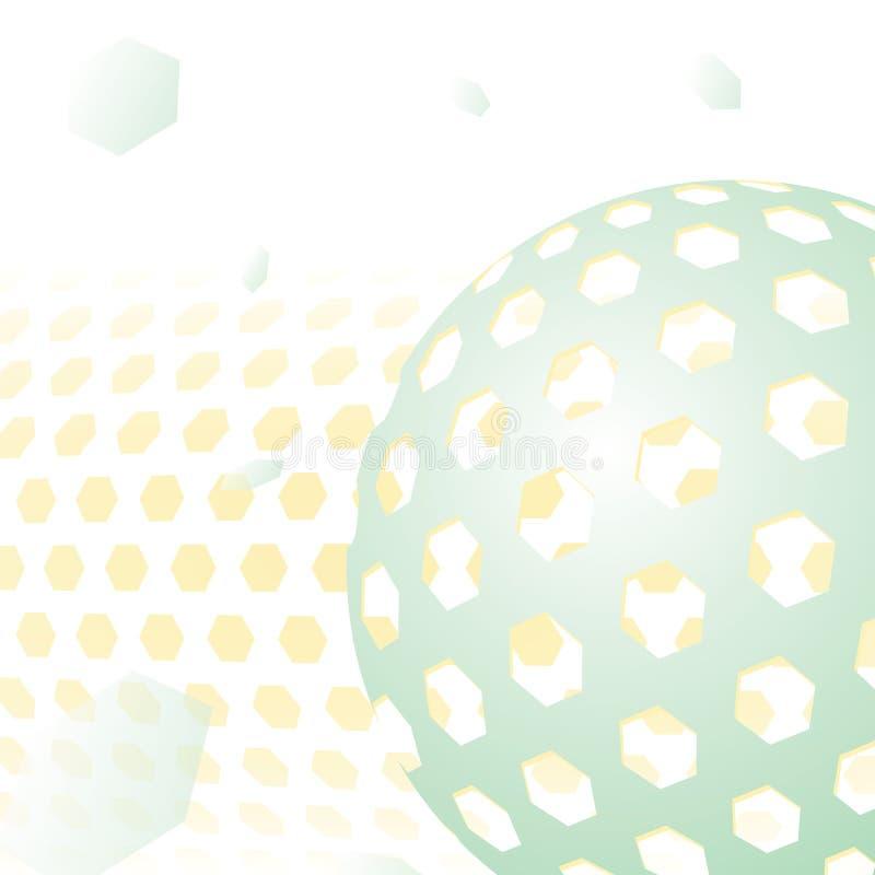 tła błękitny wieloboka technologia ilustracja wektor