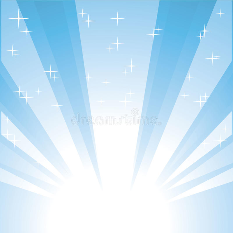tła błękitny wybuchu gwiazdy wektor royalty ilustracja