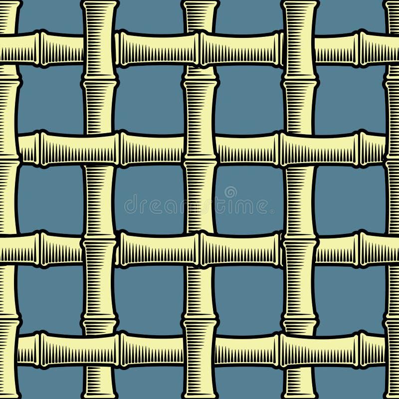 tła bambusa kratownica bezszwowa royalty ilustracja