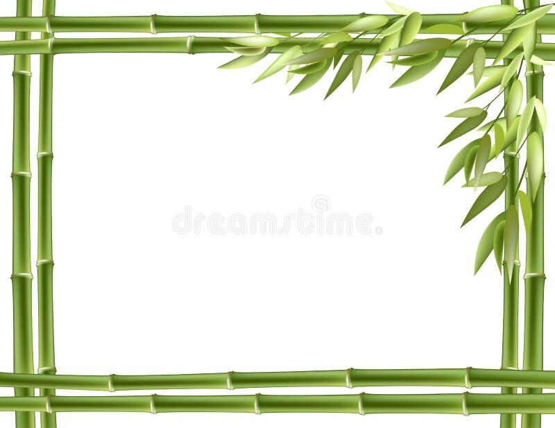 tła bambusa ramy wektor royalty ilustracja