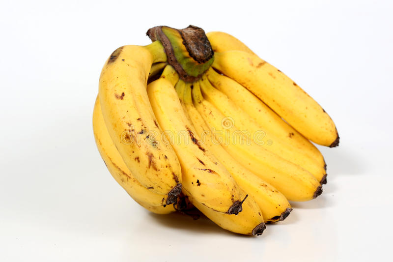 tła bananowej wiązki odosobniony biel zdjęcie stock
