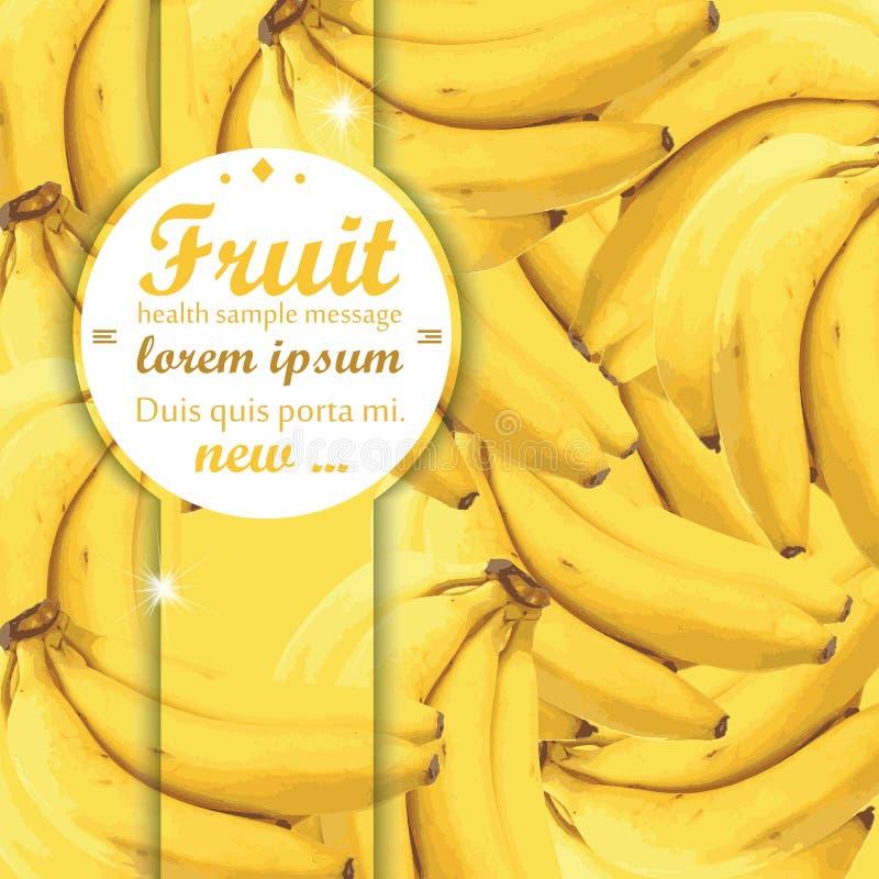 tła bananowi bananów okręgi ciący ilustracji