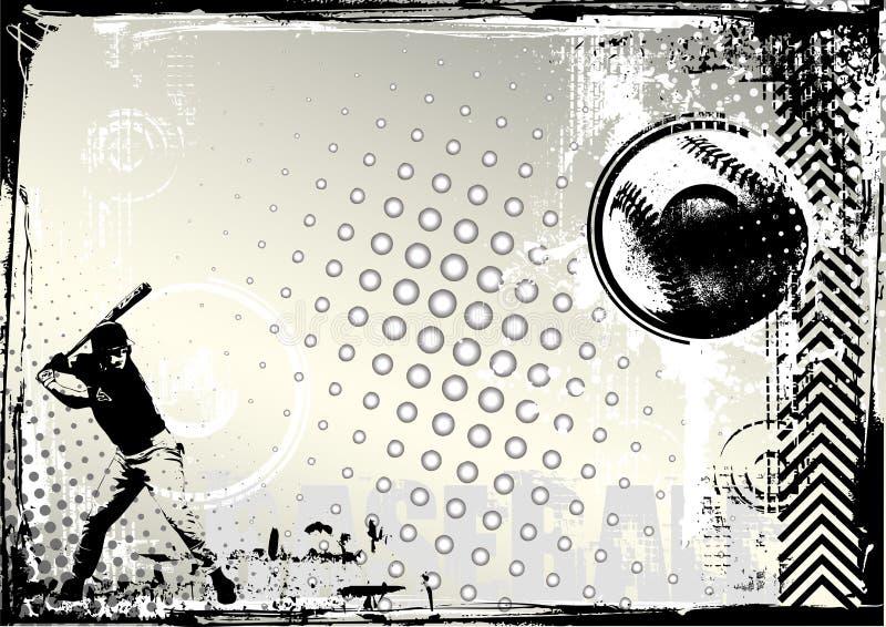 tła baseballa grunge royalty ilustracja