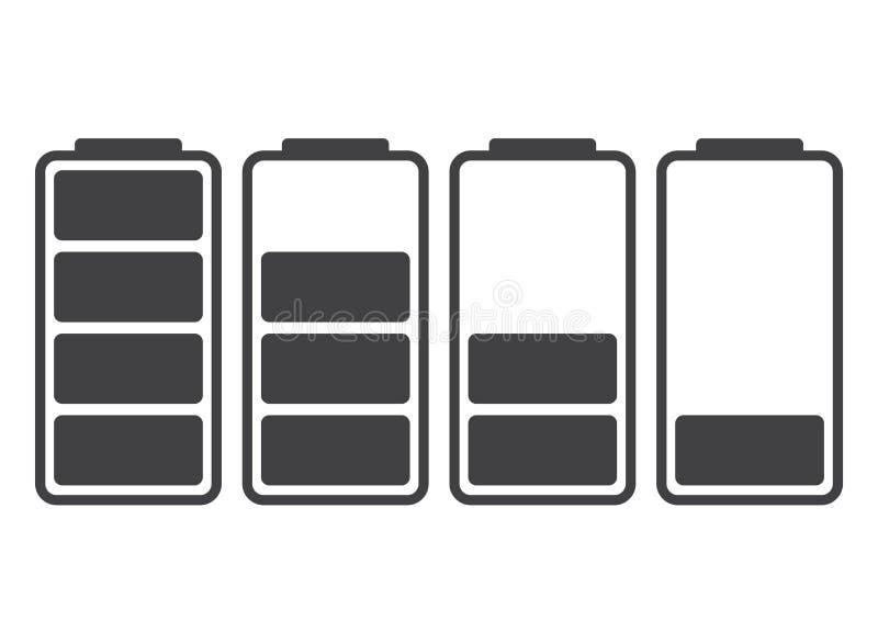 tła bateryjnej ikony odosobniony biel Ładunek równy również zwrócić corel ilustracji wektora ilustracja wektor