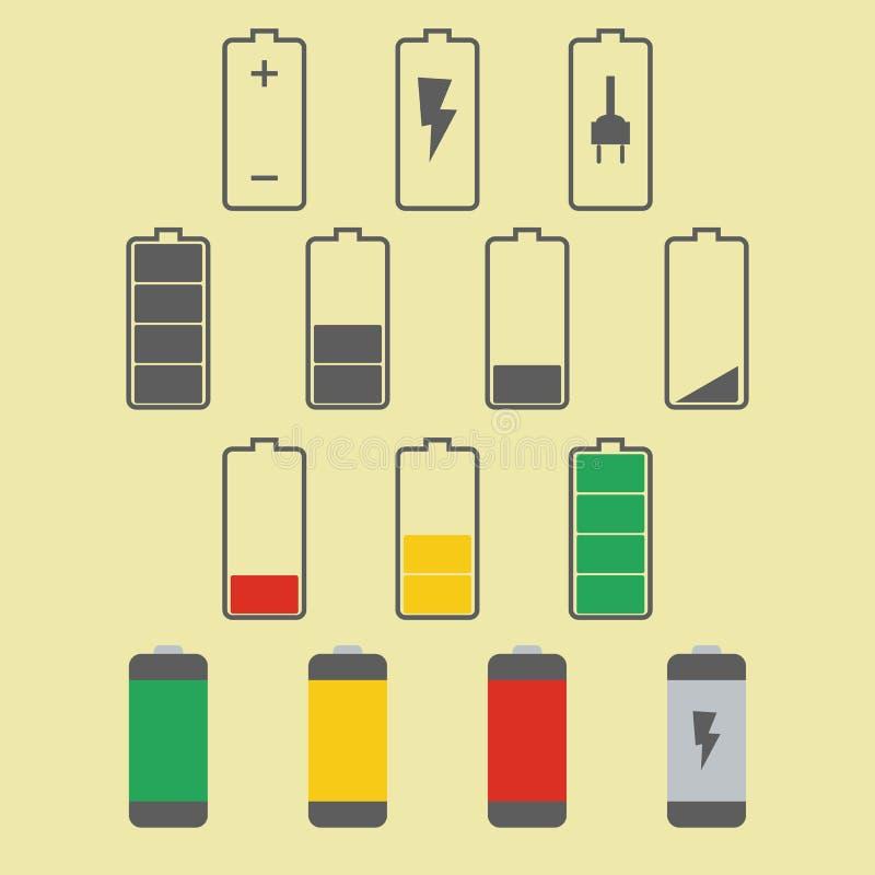 tła bateryjnej ikony odosobniony biel royalty ilustracja