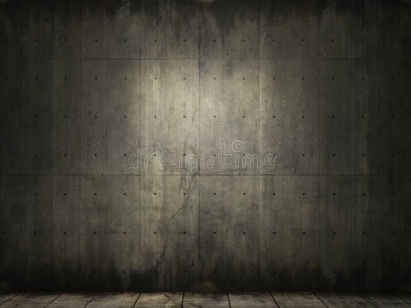 tła betonowy grunge pokój ilustracja wektor