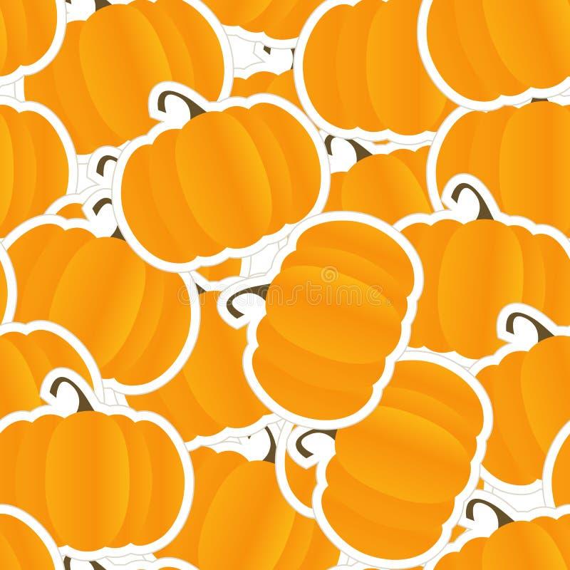 tła bezszwowy pomarańczowy dyniowy ilustracja wektor