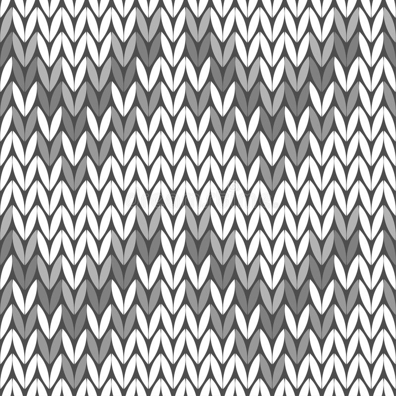 tła bezszwowy trykotowy trykotowy wzór szary sweter ilustracja wektor