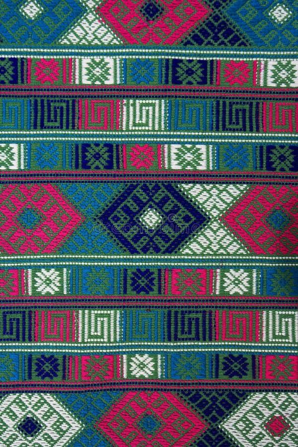 tła Bhutan ręki tkanina wyplatająca fotografia royalty free