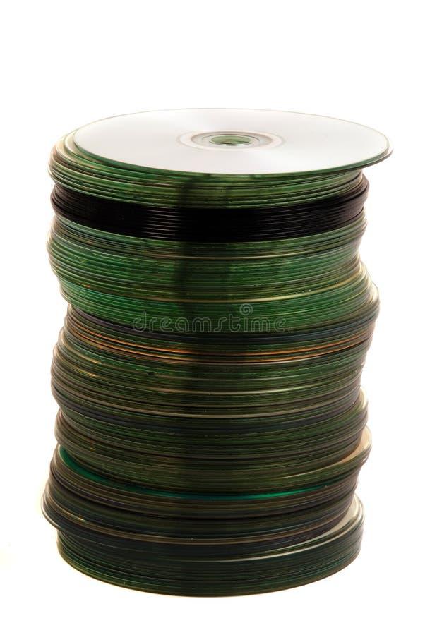 tła biel dvd odizolowywający sterty biel obrazy stock