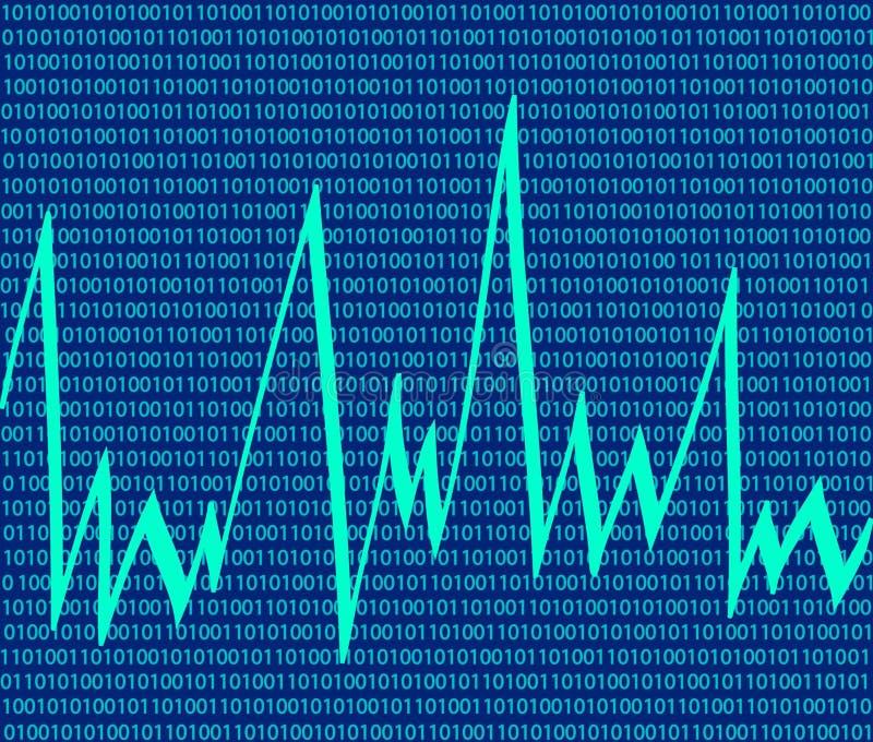 tła binarnego kodu technologia ilustracja wektor
