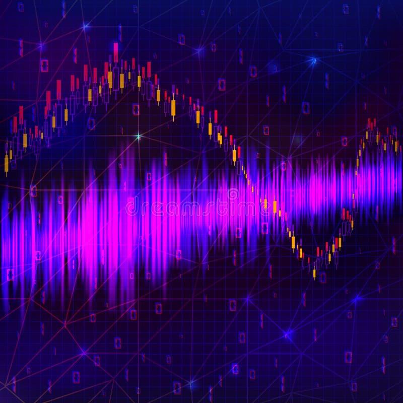 tła binarnego kodu ziemi telefonu planety technologia Błękitny rozjarzony dane przepływ jak binarne liczby ilustracji