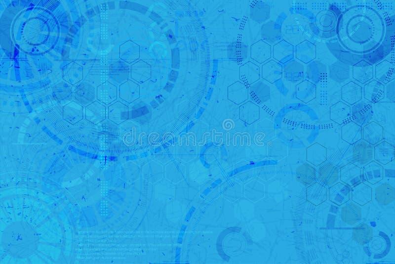 tła binarnego kodu ziemi telefonu planety technologia Technologiczni elementy ilustracja z techno elementem ilustracji