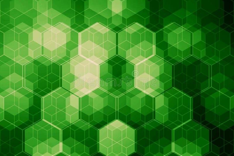 tła binarnego kodu ziemi telefonu planety technologia Wiele heksagonalny łańcuch z światłem Abstrakt ilustracji