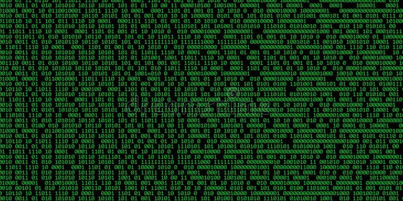 tła binary royalty ilustracja