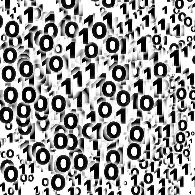 tła binary jeden zero ilustracja wektor