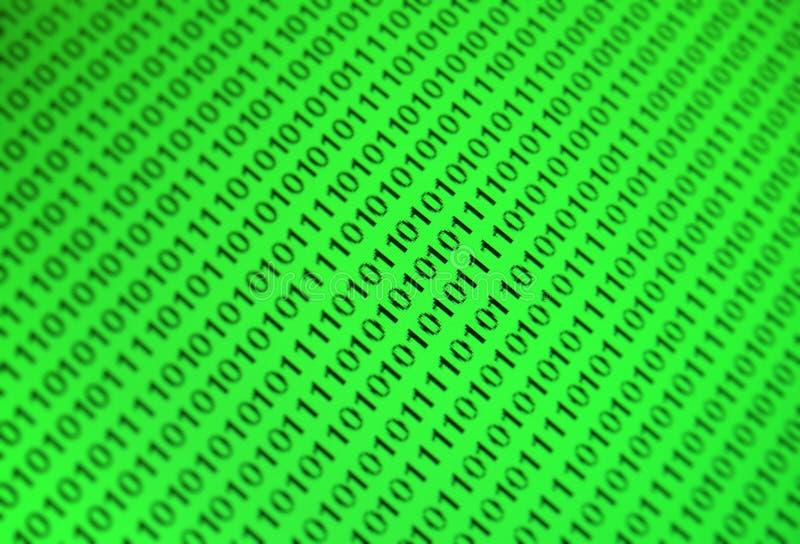 tła binary zieleń royalty ilustracja