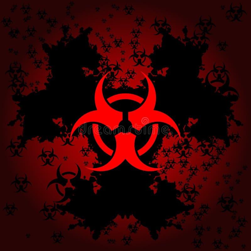 tła biohazard grunge ilustracji
