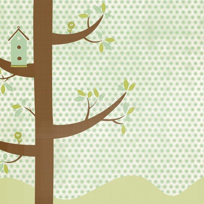 tła birdhouse ilustracja wektor