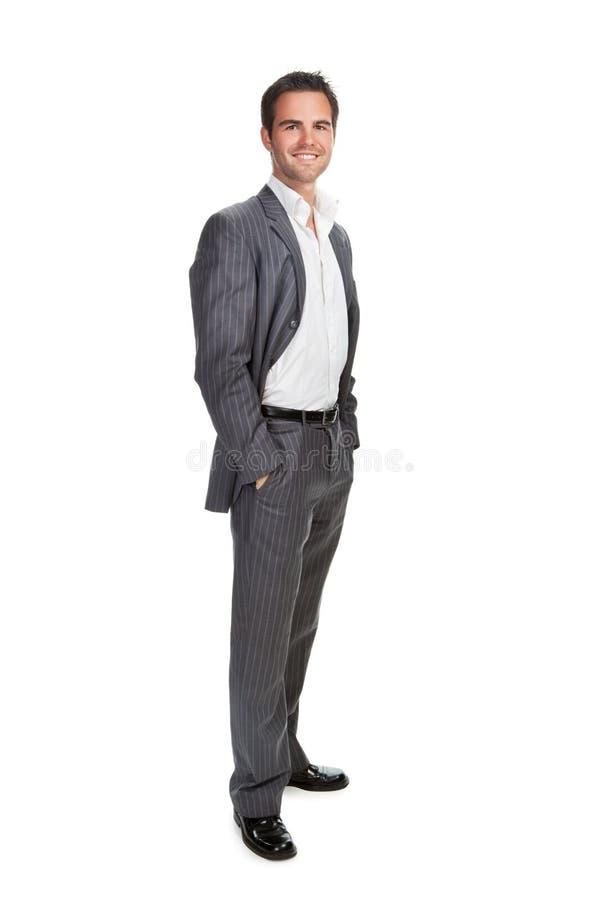 tła biznes odizolowywający mężczyzna nad biel fotografia royalty free