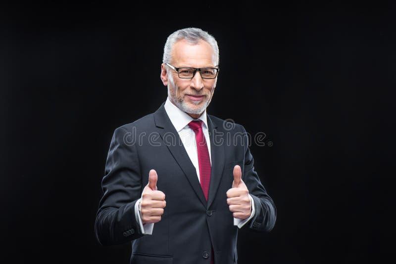 tła biznesmena przystojny odosobniony dorośleć nad biel zdjęcie royalty free