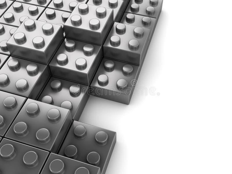 tła bloków łamigłówka ilustracja wektor