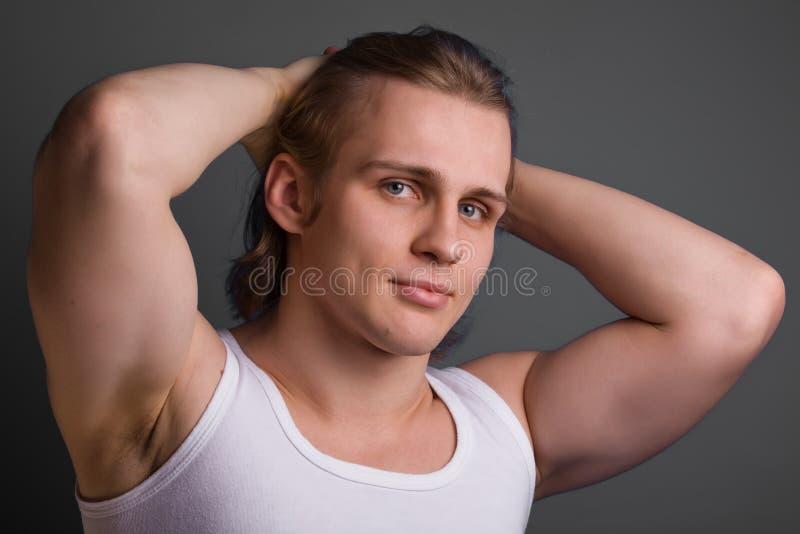 tła blond szarość mężczyzna zdjęcia stock