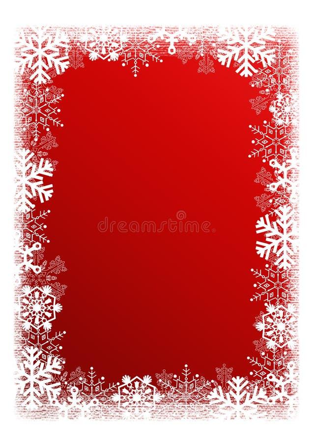 tła bożych narodzeń czerwieni płatek śniegu royalty ilustracja