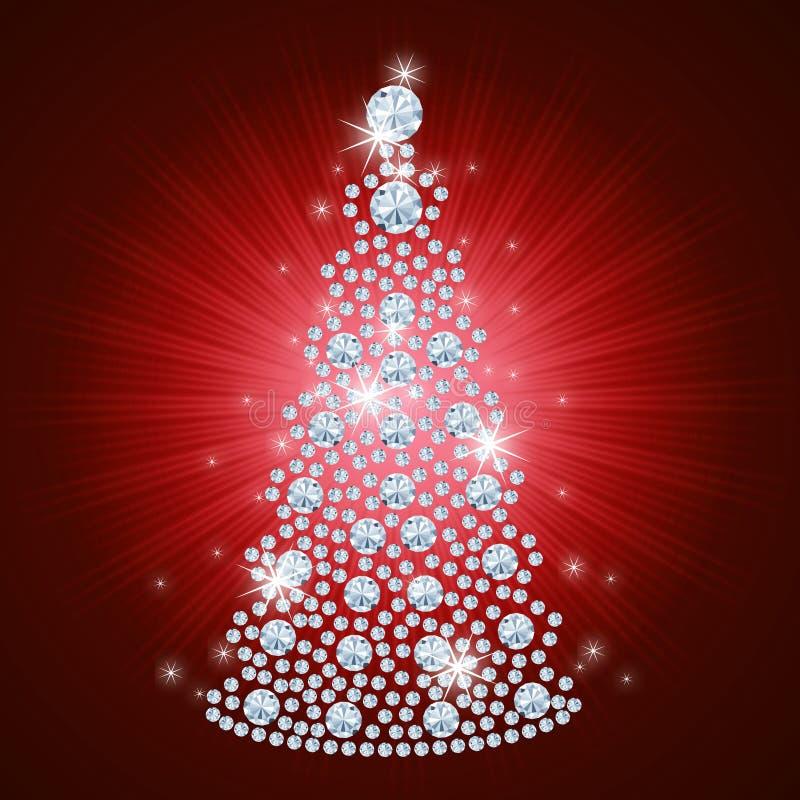 tła bożych narodzeń diamentowy wakacyjny drzewo royalty ilustracja